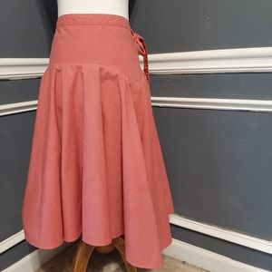 Anthropology odille shell colored skirt size 4